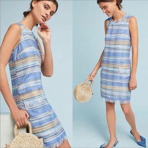 Anthro Akemi + Kin tweed blue spring dress